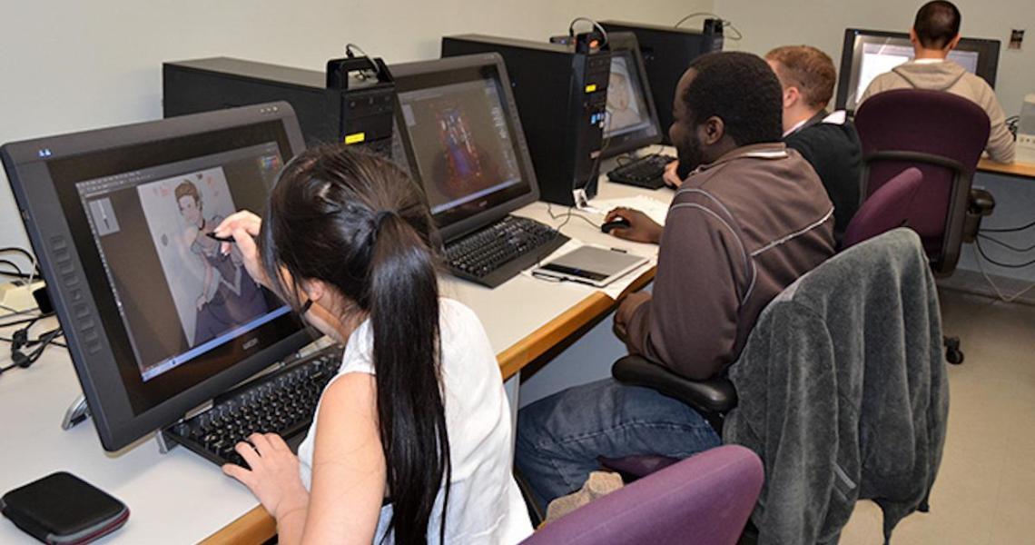 NJIT students performing digital design