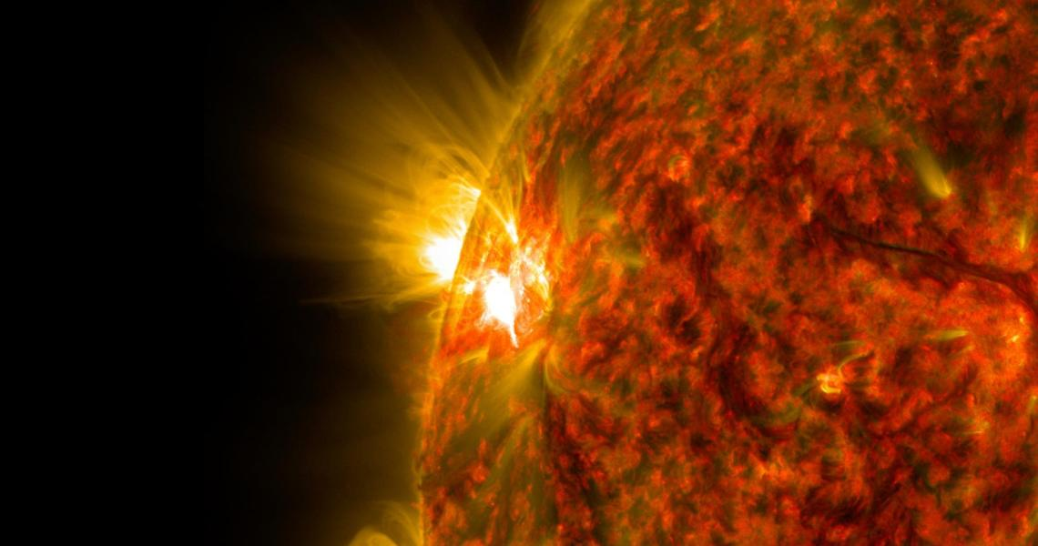 Explosive solar events such as flares and coronal mass ejections can disrupt terrestrial communications and power infrastructure in addition to other effects.