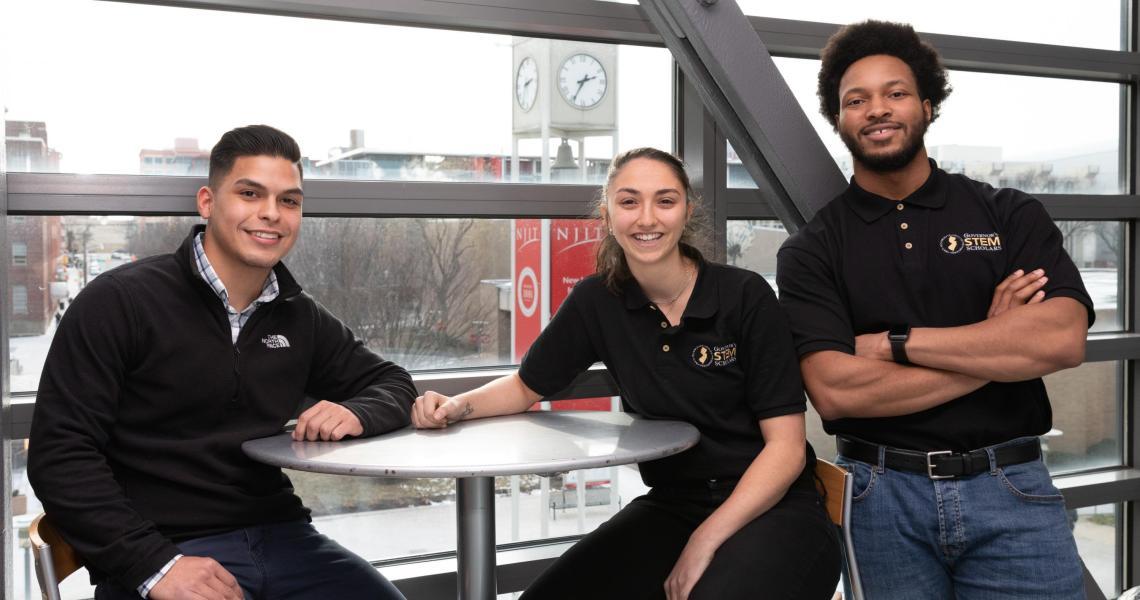 (Left to right) Kevin Pemberthy, Yasmine Ghattas and Ricardo Garcia