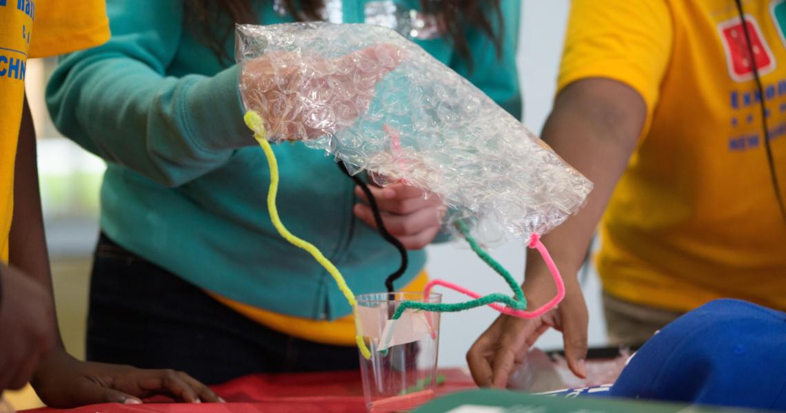 """Campers create """"spacecrafts"""" for this year's Mars Lander Challenge competition."""
