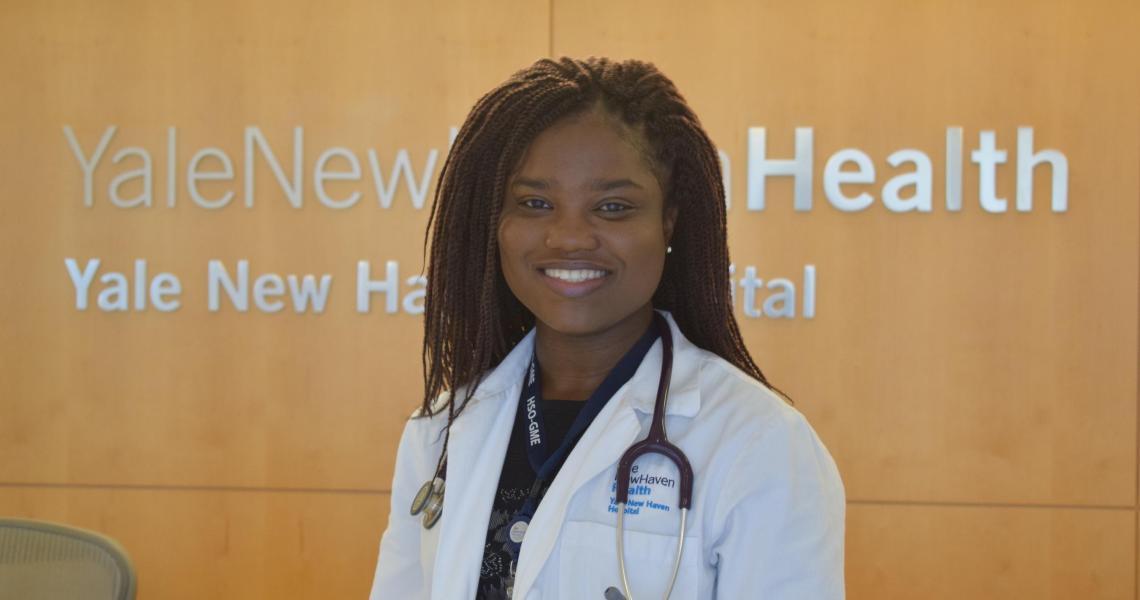 Pre-college alumna Naomi Adjei