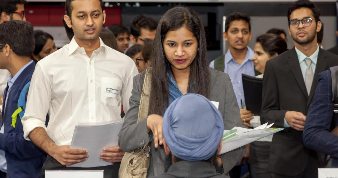 Students connect with employers at an NJIT Career Fair.