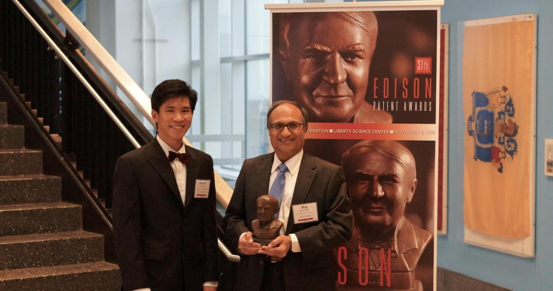 NJIT Professor Rajesh Dave and his former graduate student, alumnus Daniel To