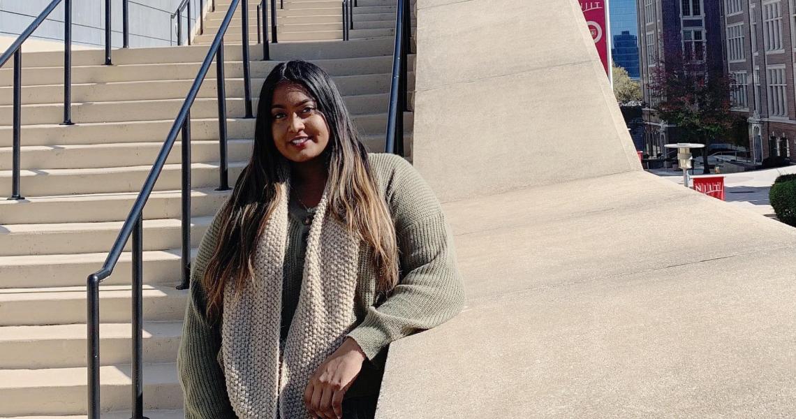Kamela Chandrika, first-gen college student at NJIT