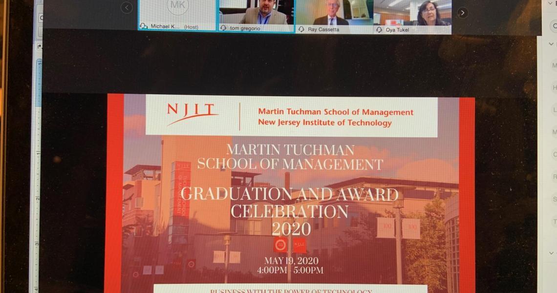 Management school virtual awards ceremony