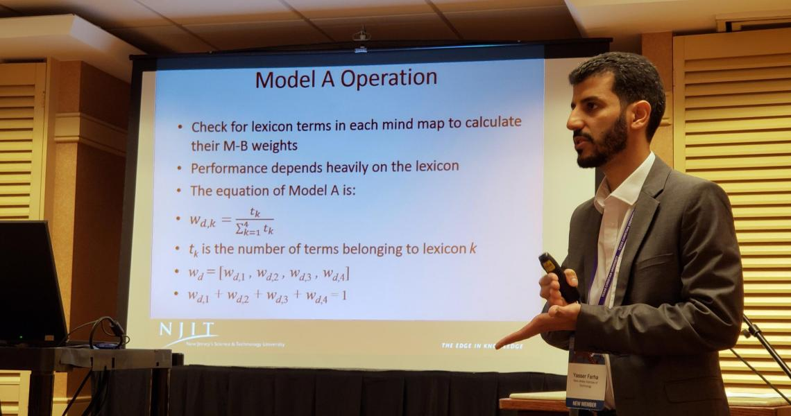 Yasser Farha, who studies business data science at NJIT,, discusses his research at the United States Association for Small Business Entrepreneurship's annual conference.