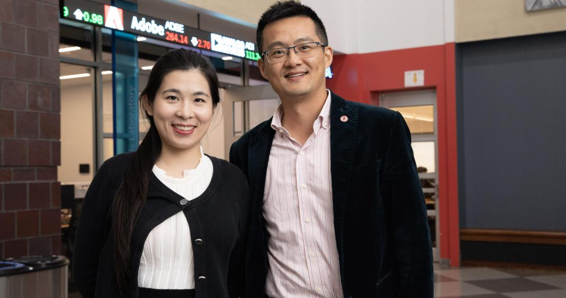 Management school professors Stacie Tao and Alan Yan