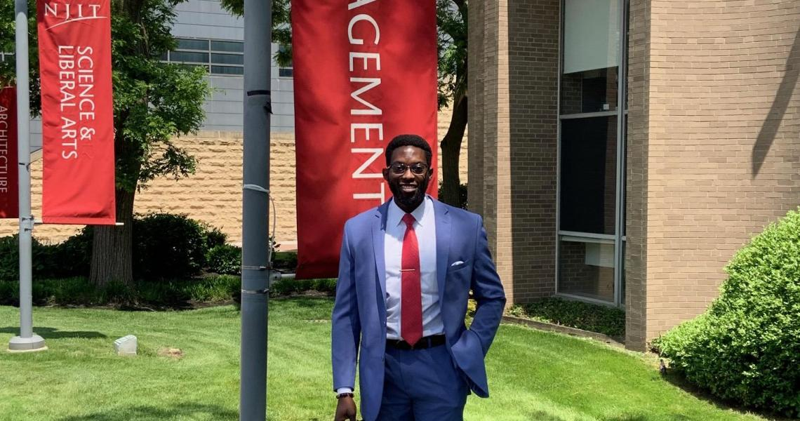 School of Management student and pushup star Kwame Sarfo