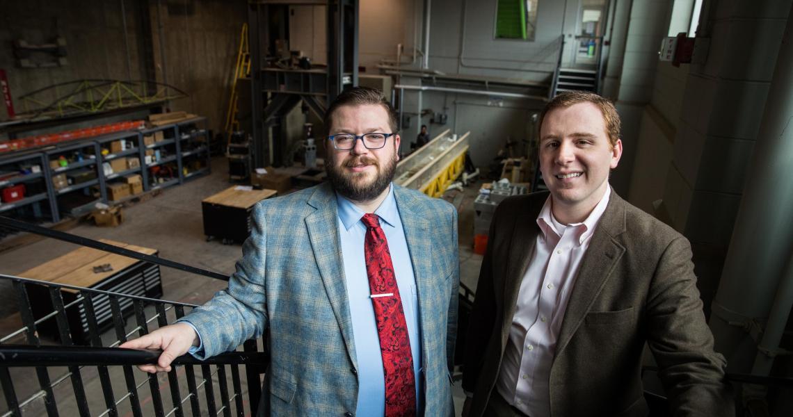 Civil engineers Matthew Adams and Matthew Bandelt