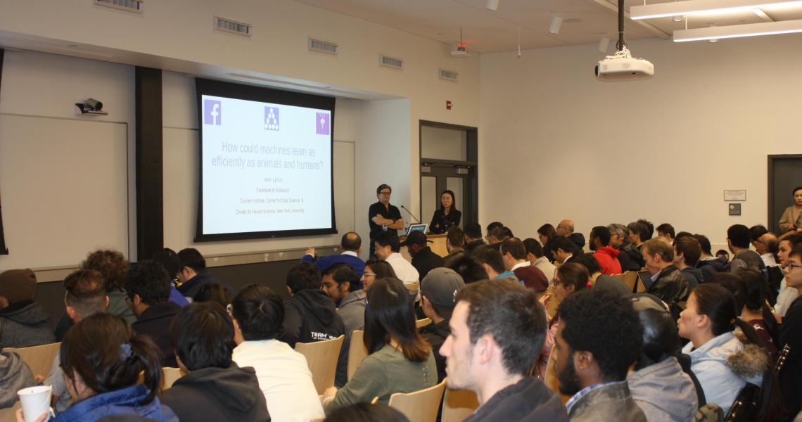 Director of AI Research at Facebook Yann LeCun, appears as guest speaker at New Jersey Institute of Technology's Ying Wu College of Computing's Distinguished Speaker Series.