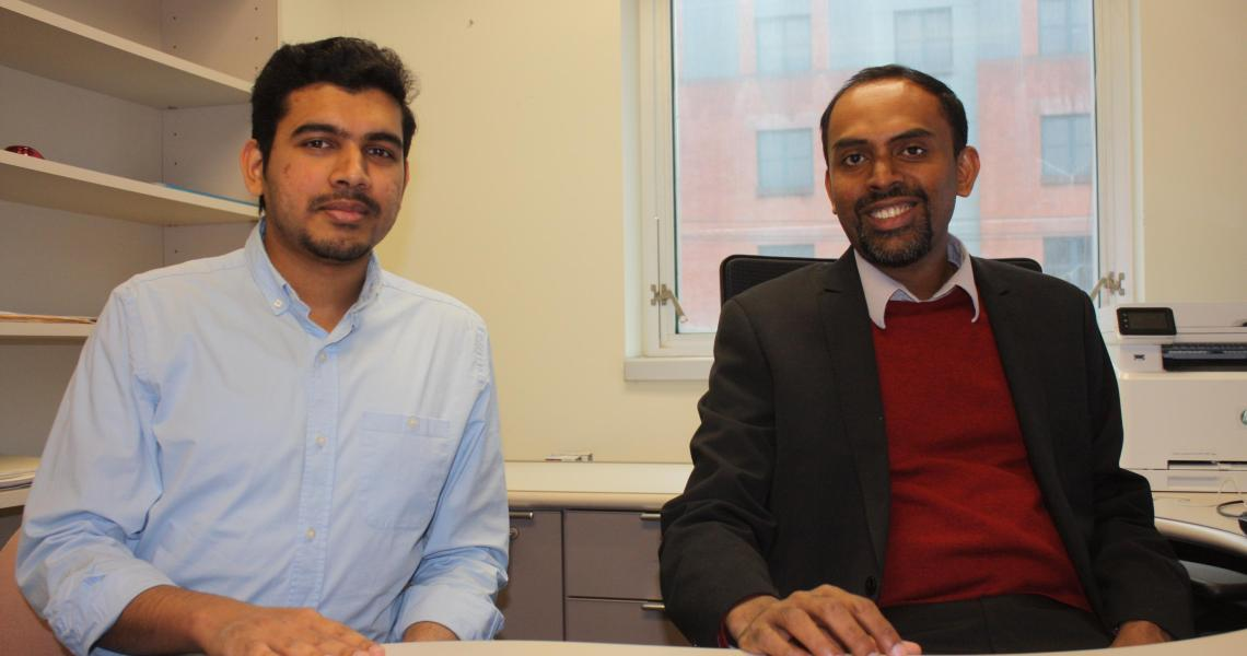 Computer engineering professor Bipin Rajendran and graduate student S. R. Nandakumar are developing brain-inspired computing systems for use in a wide range of big data applications.