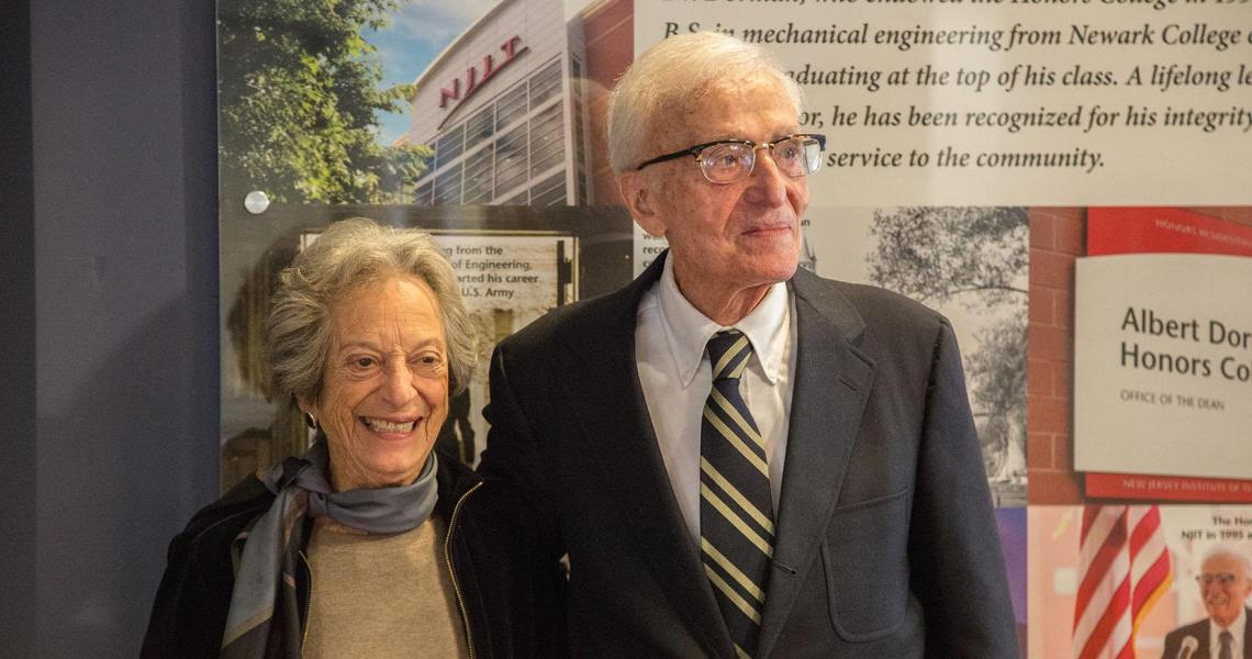 Joan Dorman and Albert Dorman '45 '99 HON alumnus