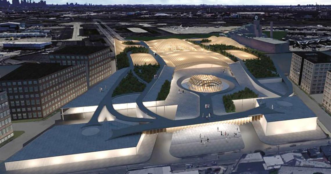 Samantha Pires Design for Newark Airport Biophilic Headhouse and Community Nexus