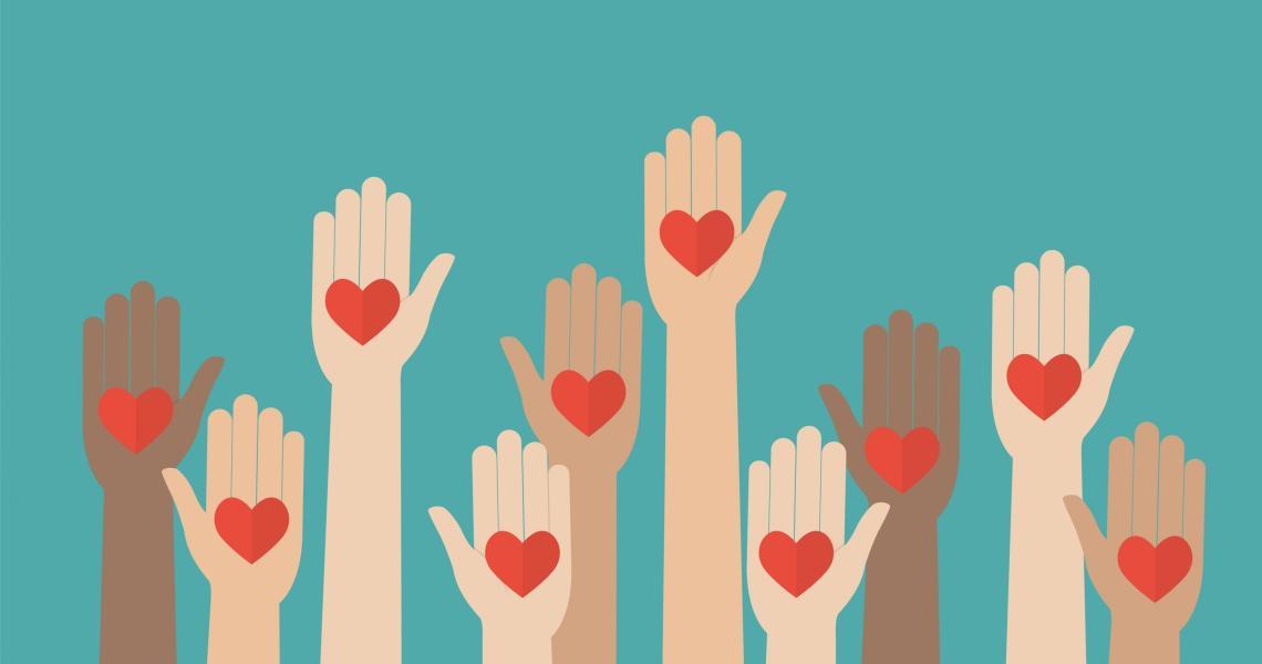 Volunteerism: helping hands