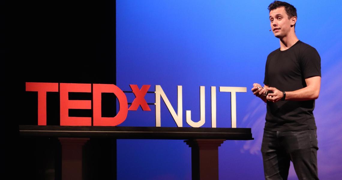 NJIT student Tomi Antoljak spoke at the university's TEDx talk on resilience.