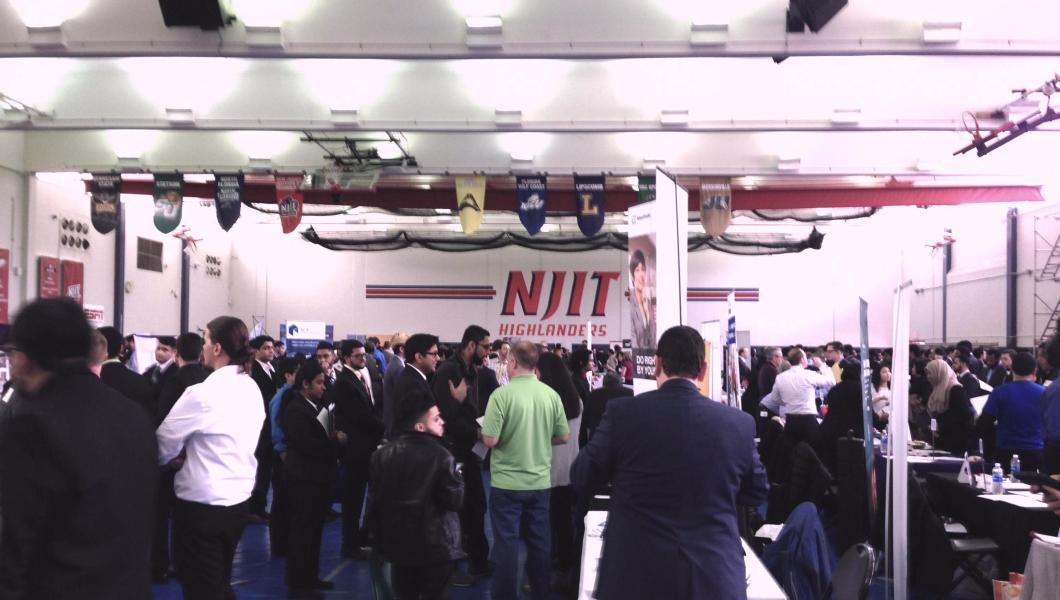 NJIT's Spring 2017 Career Fair was held in the Fleisher Athletic and Naimoli Tennis Centers.