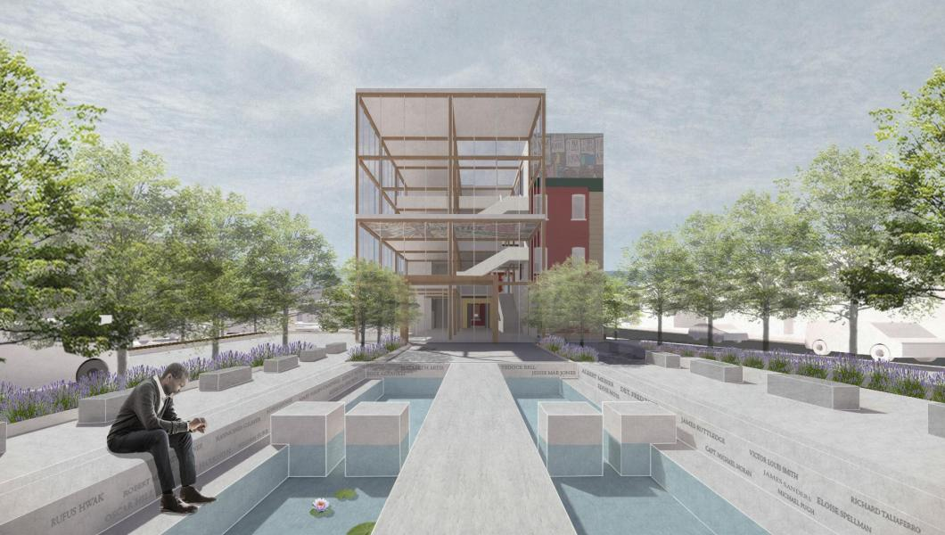 Jihye Son's design proposal for the exterior of the building