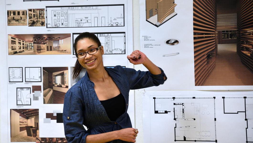Design student presents her work