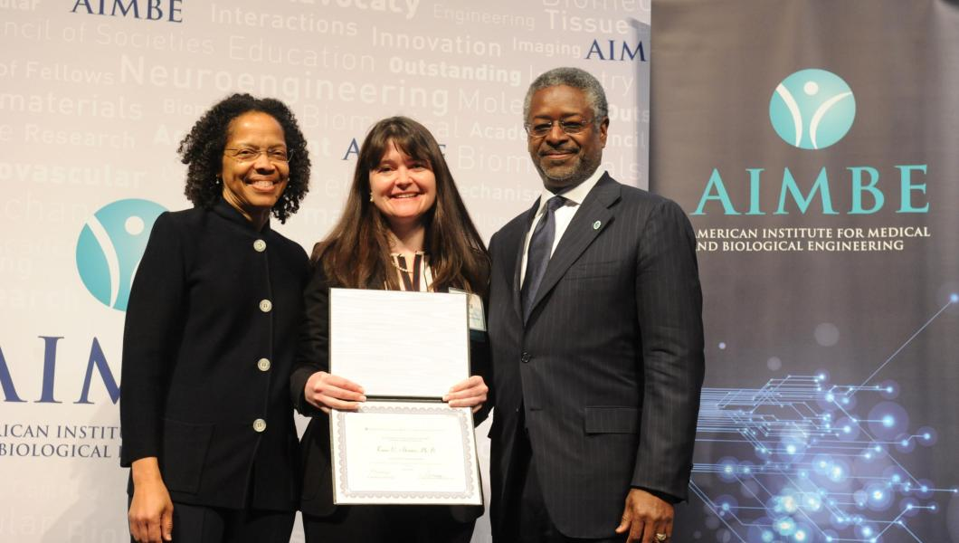 Tara Alvarez inducted into the American Institute of Biomedical Engineers