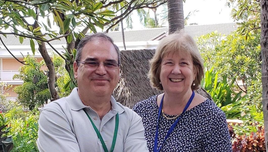 Cesar Bandera and Ellen Thomas
