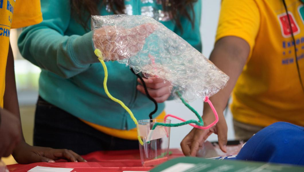 "Campers create ""spacecrafts"" for this year's Mars Lander Challenge competition."