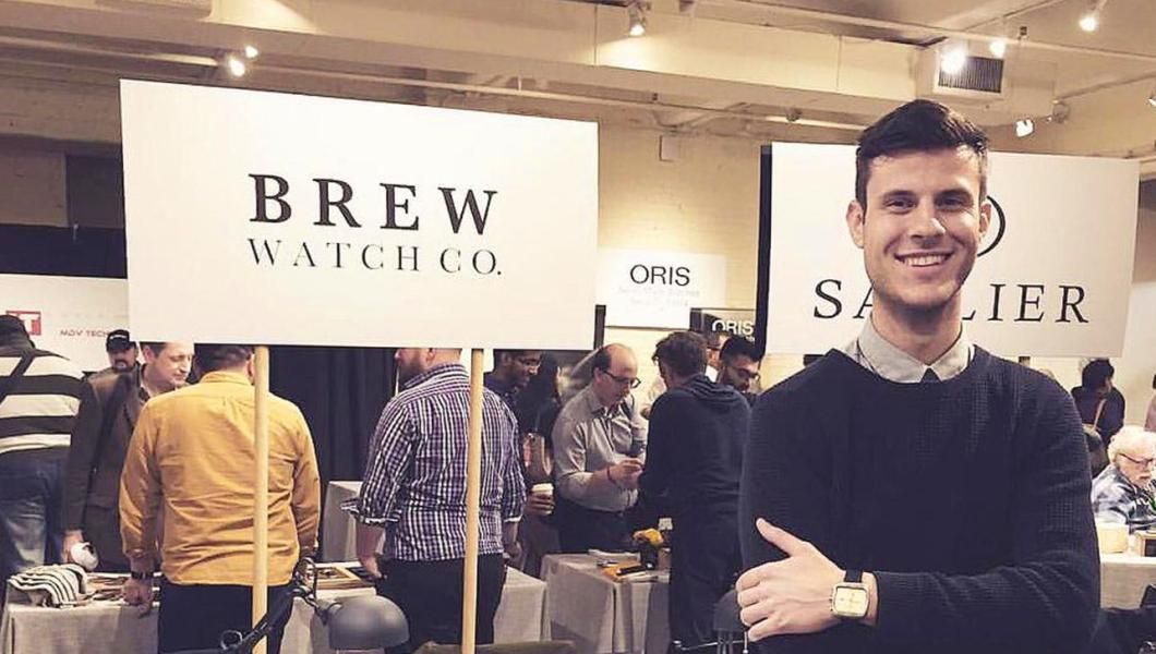 Jonathan Ferrer NJIT alumni and founder of Brew Watch company