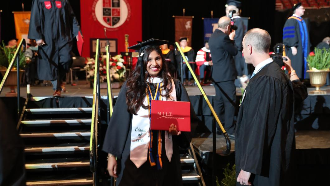 Graduates Encouraged to Sustain Hard Work, Passion and Kindness at NJIT's  102nd Commencement