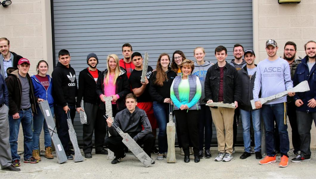 Winners of the 2017 Annual Student Beam Competition, sponsored by the the Eastern Pennsylvania & Delaware Chapter of the American Concrete Institute