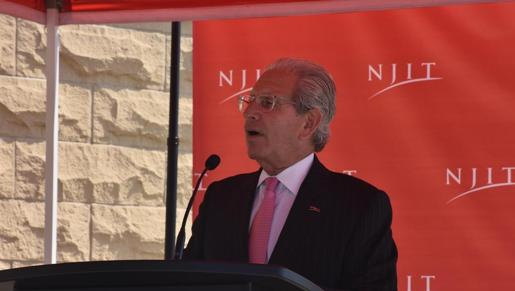 """President Joel Bloom addresses the """"Welcome to Campus Reception"""""""