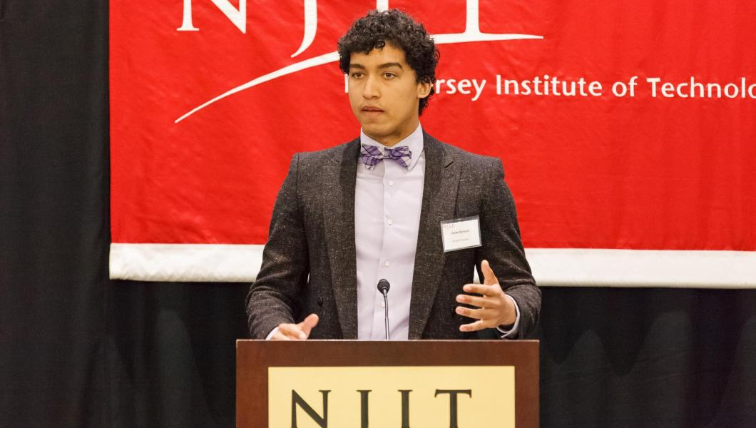 Dylan Renaud '18 discussed how scholarship support has enable him to achieve his goals at the 30th annual Scholarship Brunch.