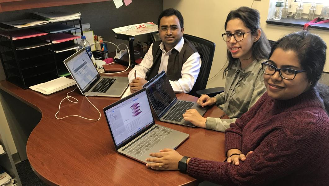 Dibakar Data and his research team at NJIT