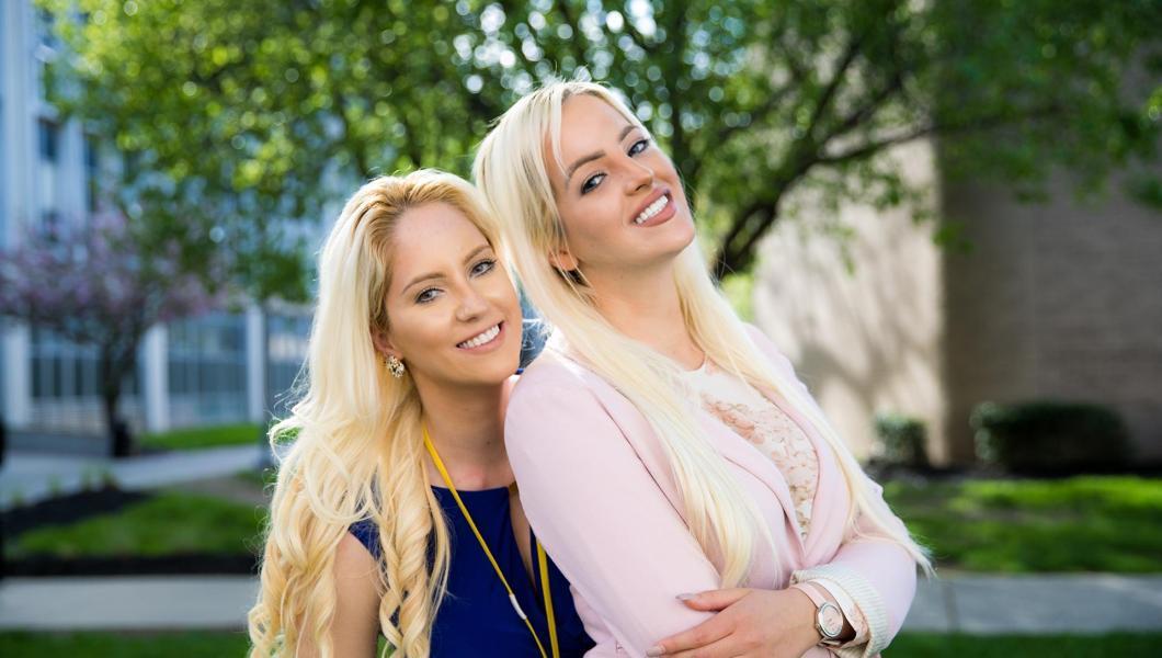 Jovana (left) and Jelena Stijovic are now NJIT alumni.