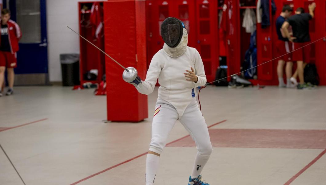 Epee specialist Julia Garcia recorded a 9-0 record on the day.