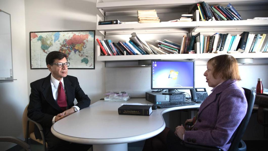Longtime MTSM Professors Hindy L. Schachter and Theologos H. Bonitsis reflect on the school's evolution.