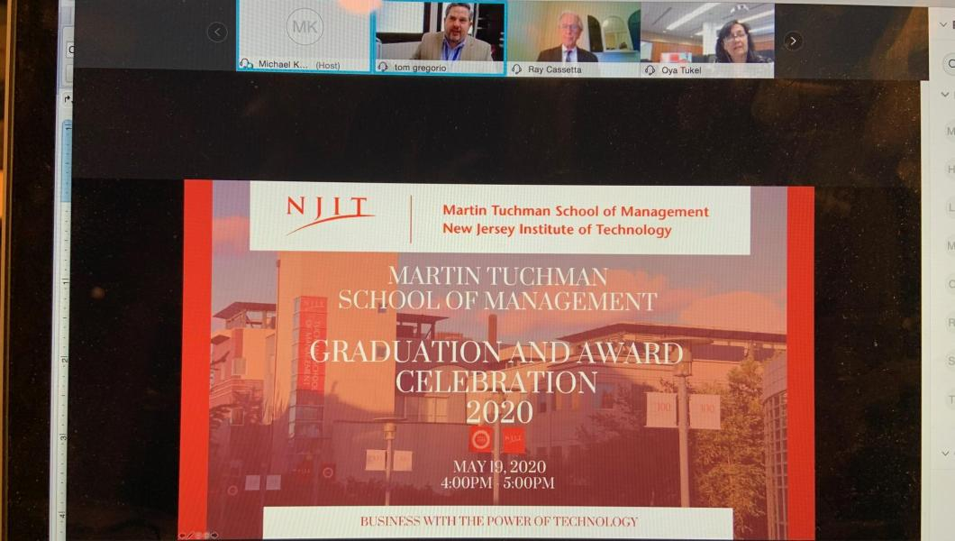 Management school virtual awards ceremony