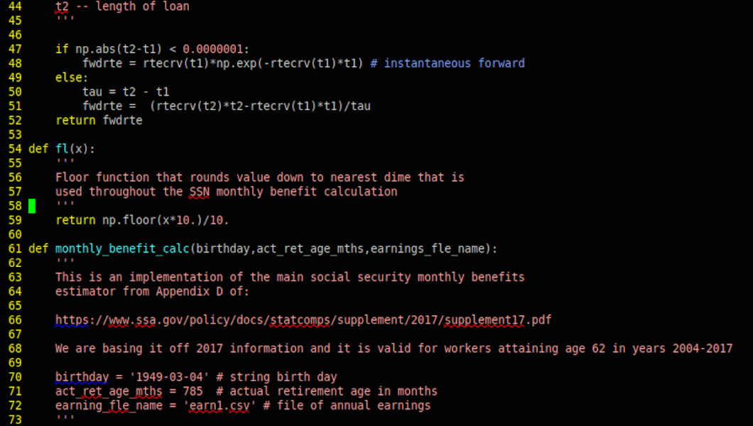 Coding for MTSM Social Security research