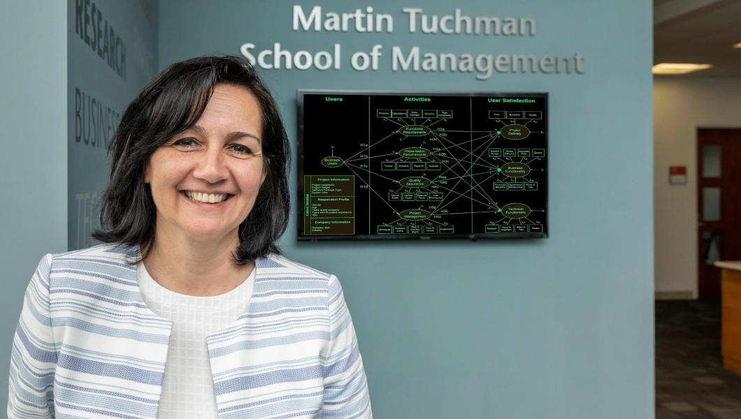 Oya Tukel, dean of Martin Tuchman School of Management and professor of supply chain management