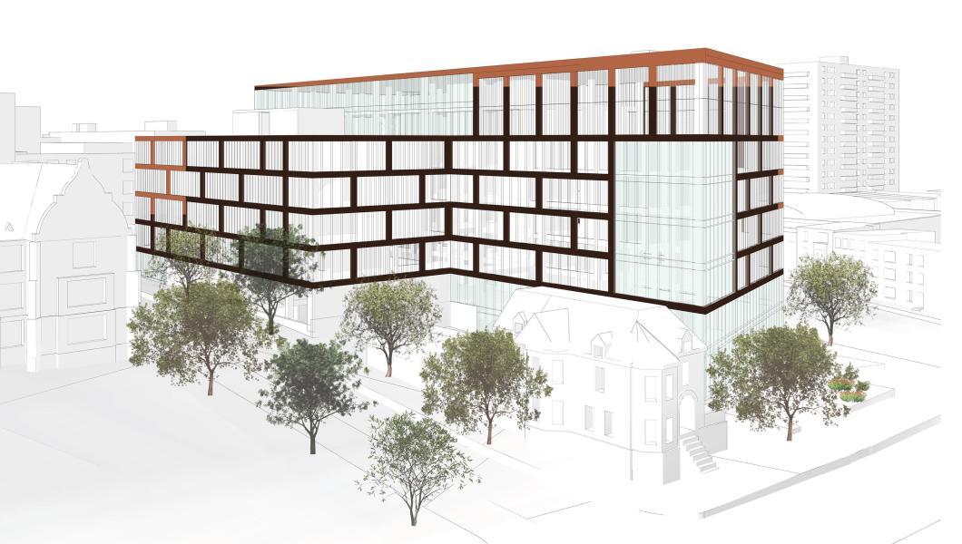 Michael Rivera design for NJIT gateway building