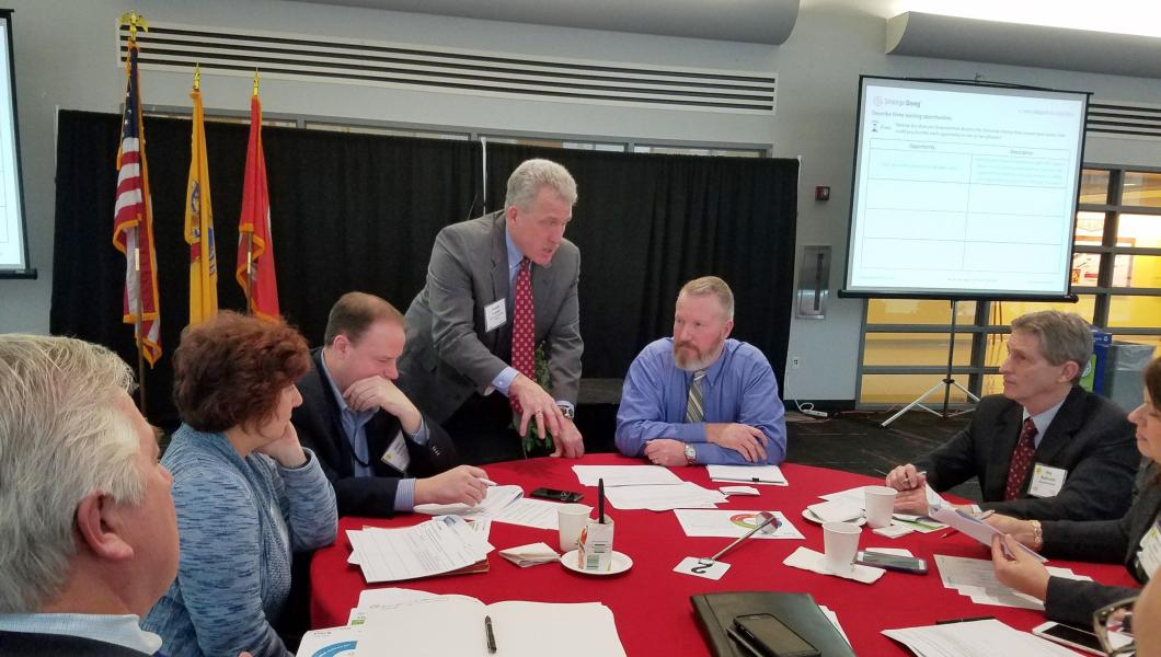 New Jersey Innovation Institute COO Tim Franklin guides a team through the Strategic Doing process.