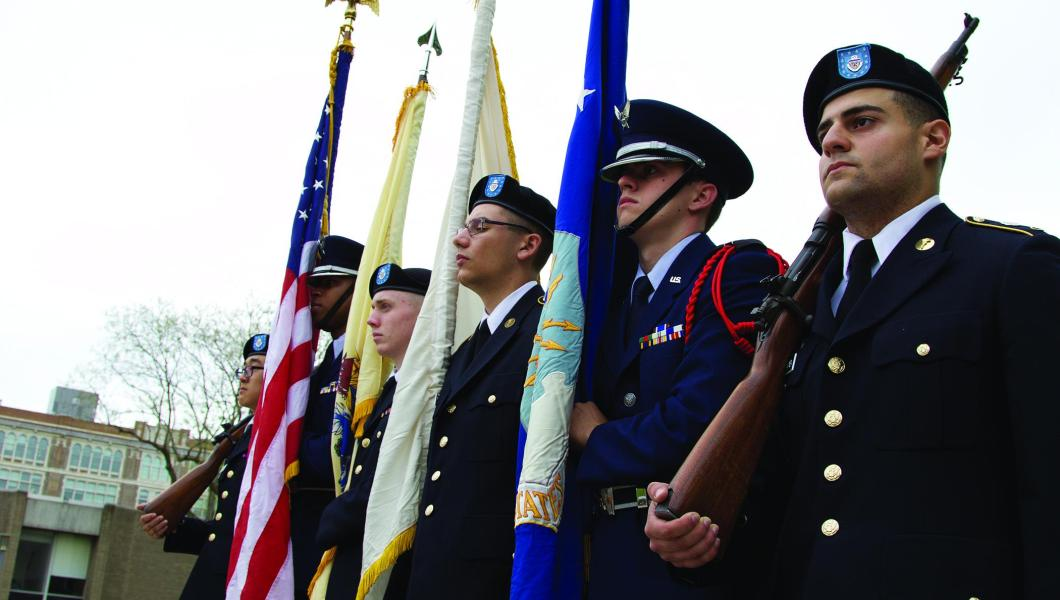 NJIT Air Force Color Guard