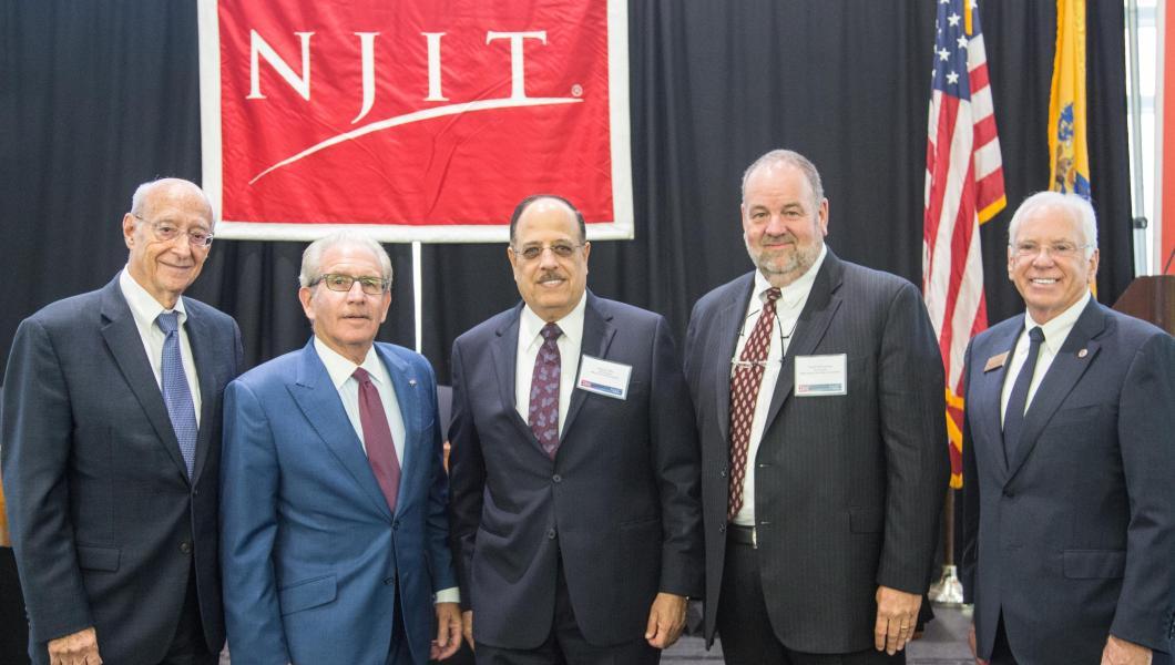 (From left) Martin Tuchman, Joel S. Bloom, Naguib Attia, David McQueeney and Reggie Caudill gather at the MTSM-IBM flagship alliance launch.