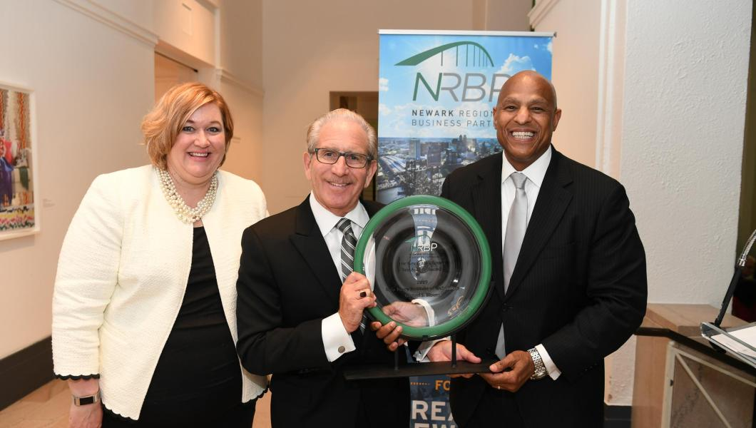 At the NRBP awards ceremony: (from left) Jeanine Pedoto, Prudential Financial vice president; Joel S. Bloom, NJIT president and award recipient; Darrell K. Terry Sr., NRBP board chair