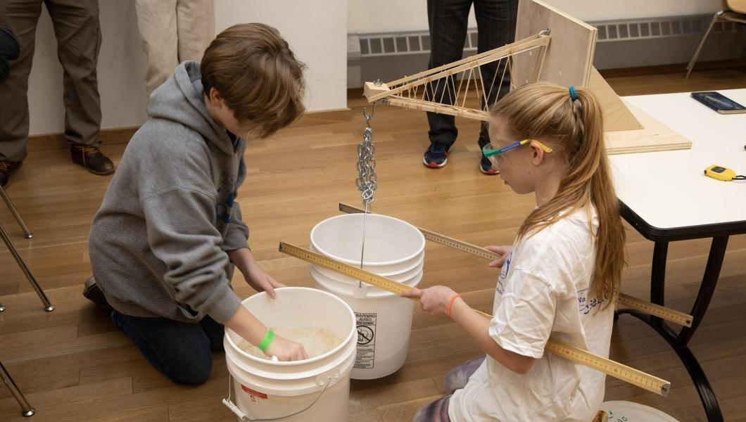Boomilever competition at the 2019 Science Olympiad