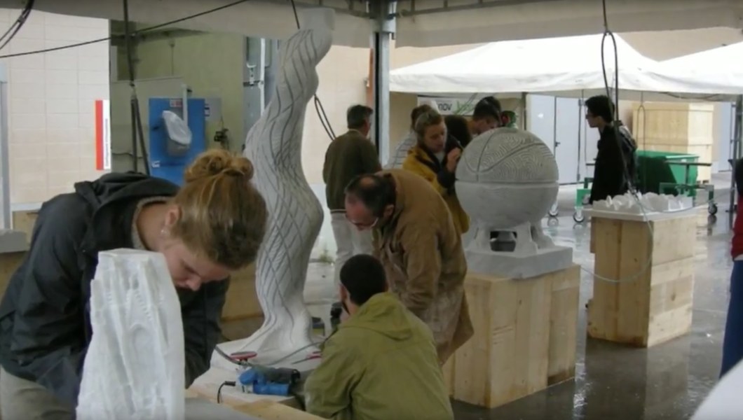 College of Architecture and Design students spent a month in Italy learning how to cut stone.