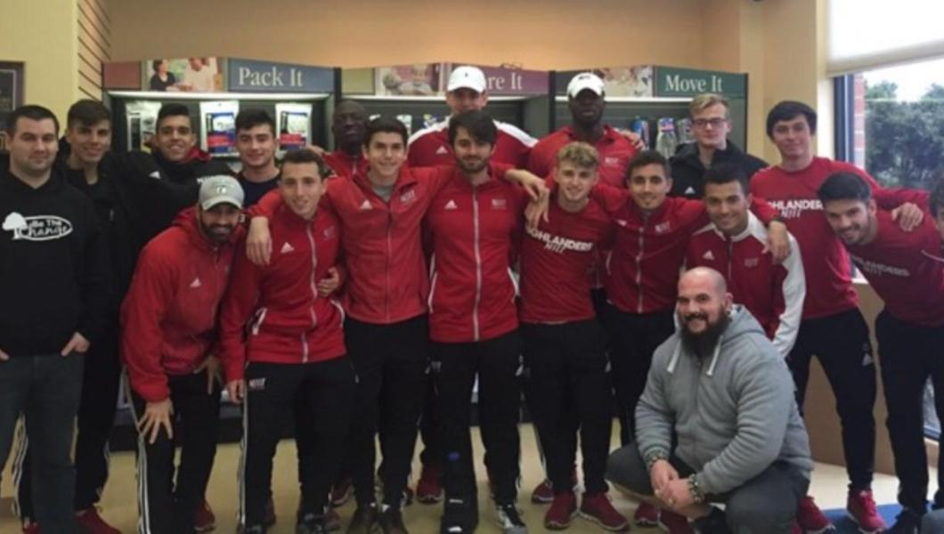 "Coaches and members of the NJIT men's soccer team recently teamed up with a group called ""BE THE CHANGE"" completing a community service program locally at Newark Penn Station."