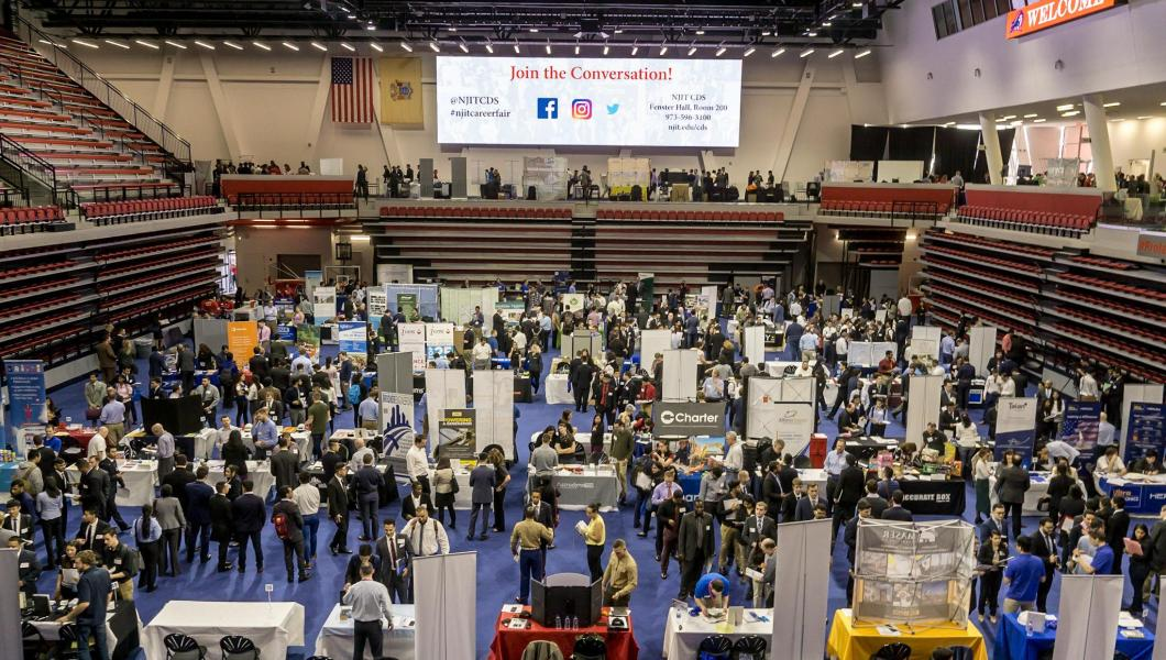 NJIT's Spring 2018 Career Fair.