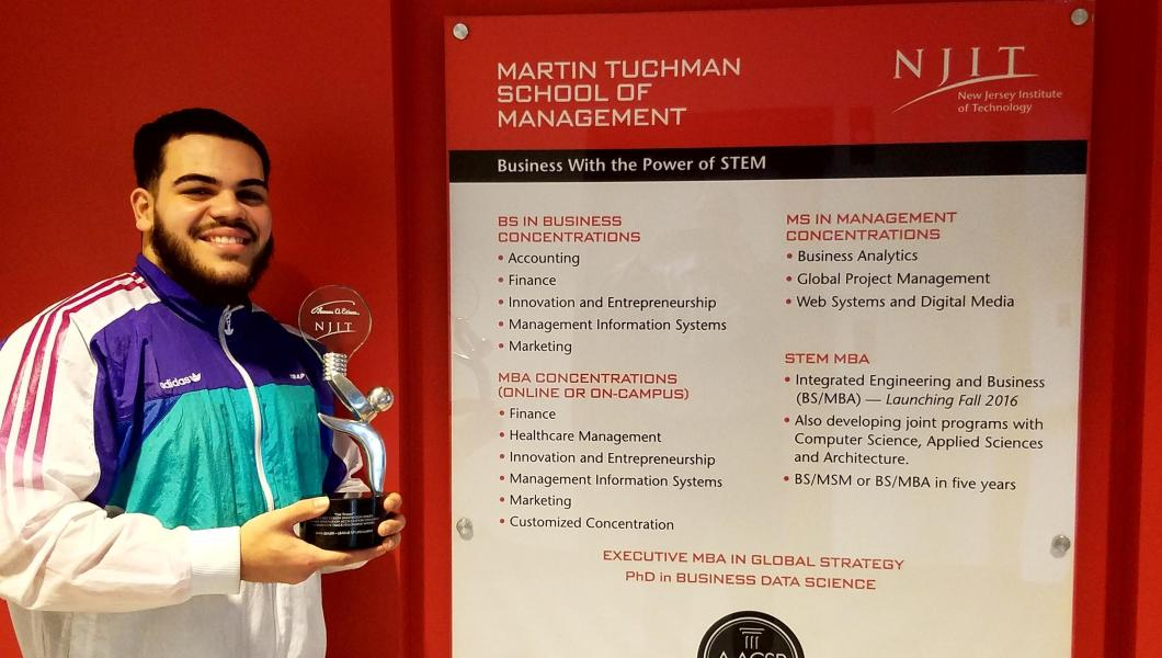 Management student Mark Quiles wins awards for his company League of Lifeguards.