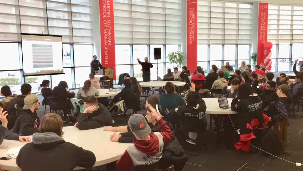 NJIT students get active threat training from Public Safety
