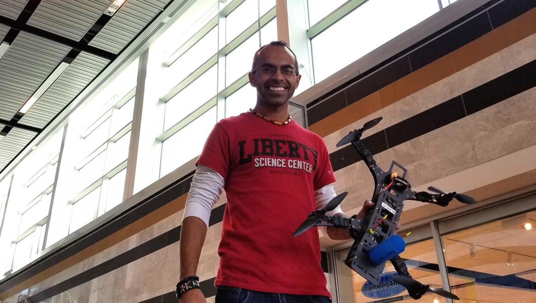 NJIT alum Deepesh Dhingra is a senior exhibition leader at Liberty Science Center.