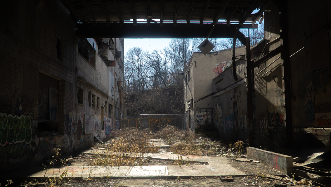Abandoned industrial site. Photo credit Collin Burman Unsplash.